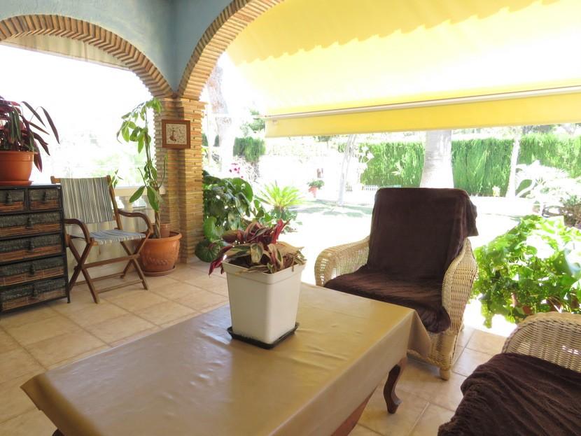 Front terrace - 4 bed 2 bath Olocau