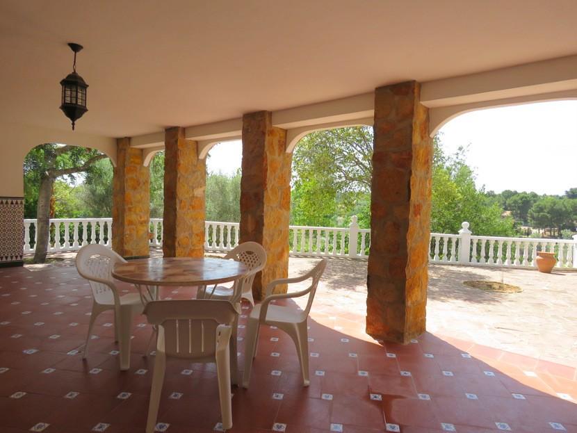 Rear terrace  - 4 bed 2 bath Godelleta